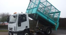 (1043)IVECO 75 E16 CAGED TIPPER RX10EYL