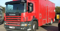 EX FIRE BRIGADE SCANIA 94 D WITH MOFFIT FORK LIFT