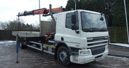 DAF 65 250 WITH PALFINGER 16001 2 EXTENSIONS