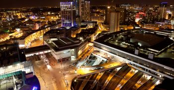 Taken from the Rotunda overlooking New Street Station