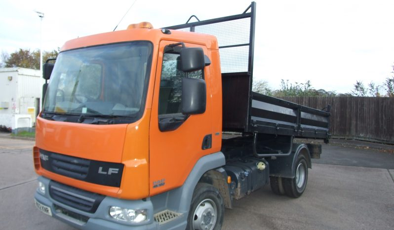 orange daf ex council tipper truck
