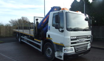 front right hand side shot of a daf crane