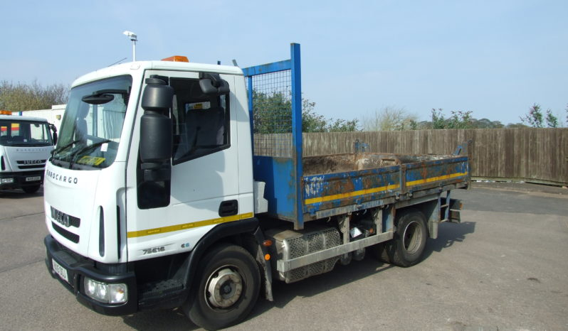 Left hand side front view of an Iveco ex council tipper