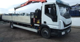 2017 IVECO 75 E160 FASSI F85 CRANE ONLY 9,085 KMS