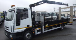 IVECO 75 E16 2014 BEAVERTAIL WITH CRANE