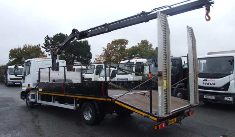 IVECO 75 E16 2014 BEAVERTAIL WITH CRANE full